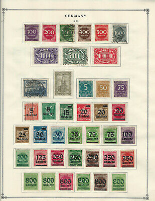 GERMANY 1923-1938 Lot of Stamps Collection on Scott Album Pages