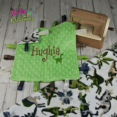 Chugga Train Personalised Taggie blanket Baby Cuddle Comforter Gift Taggy