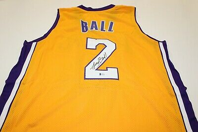 b3a80c73787 Lonzo Ball Signed Los Angeles Lakers Jersey (Beckett COA) Autographed Auto