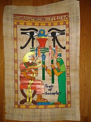 Egyptian Papyrus Art Painting Tomb of Sennefer- Hand-Painted