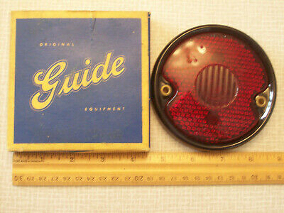 NOS Guide Chevy glass tail light lens, R-13, Guideolite Standard