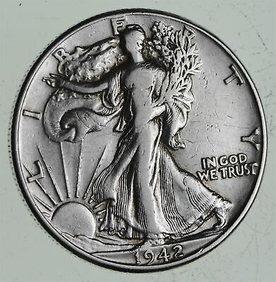 Strong Feather Details - 1942 Walking Liberty Half Dollars - Huge Value *514