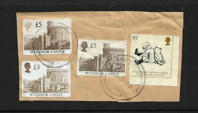 Great Britain ~ £5.00 Windsor Castle X 3 Plus 1 ~ Used On Paper