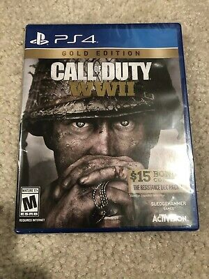 Brand New Factory Sealed Call of Duty: WWII Gold Ed Sony PlayStation 4, 2017 PS4