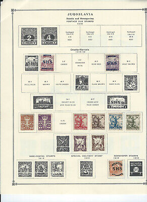 JUGOSLAVIA 1918-1940 Stamps Collection on Scott Album Pages
