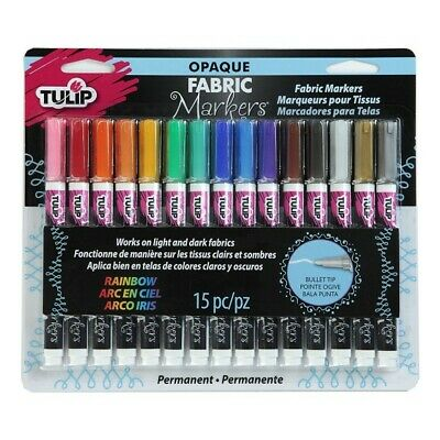 Fabric Markers TULIP Opaque Permanent Fabric Markers 15 Pack