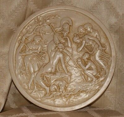 ANTIQUE P.P. CAPRONI BROS. BOSTON.:  Renaissance Decoration Piece Cast Plate