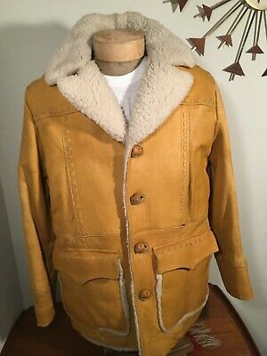 966974a7726 VINTAGE 1970S PIONEER WEAR RANCH WESTERN Detailed LEATHER work JACKET COAT  44