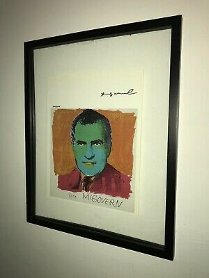 Andy Warhol 1986 Original Print Hand Signed with Certificate, Resale $3,150