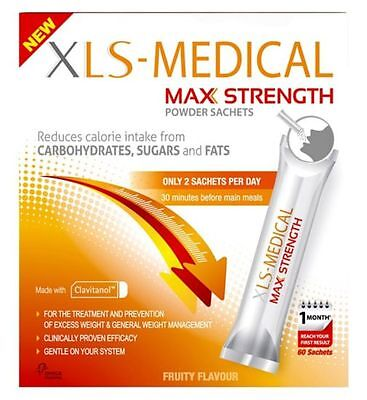 New Xls Medical Max Strength Powder Sachets 60 1 Months Supply Rrp £89