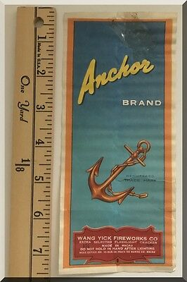 Anchor Brand Wang Yick Fireworks Co 50 Firecrackers 1 11-16 Inch Brick Label