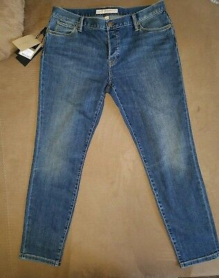 NWT Burberry Womens US 31 Brit Relaxed Skinny Jeans Indigo Washed $295