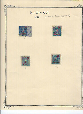 KIONGA 1916 Stamps Complete Country Collection on Scott Album Pages
