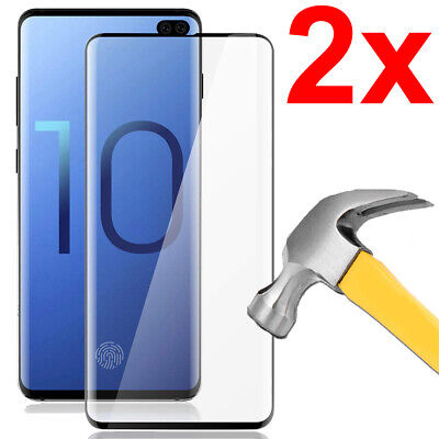 3D Full Cover Tempered Glass Screen Protector For Samsung Galaxy S10+ (S10 Plus)