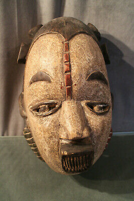Mask african wooden carved
