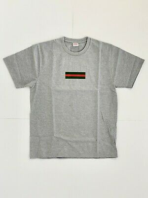 3b11919e SUPREME GUCCI BOX Logo Tee Bogo T Shirt Gray Size L Great Condition ...
