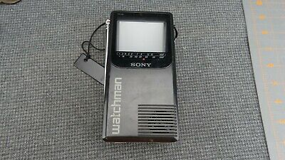 Vintage Sony Watchman FD 230 Black & White Portable TV for parts