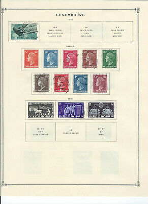 LUXEMBURG 1949-1963 Stamps Collection on Scott Album Pages