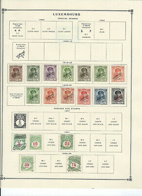 LUXEMBURG MACAO 1919-1971 Stamps Collection on Scott Album Pages