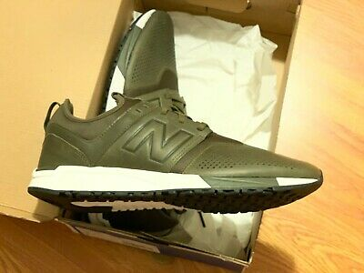 more photos 33432 c5b45 New Balance Men 247 Leather Mrl247No (Olive   White)