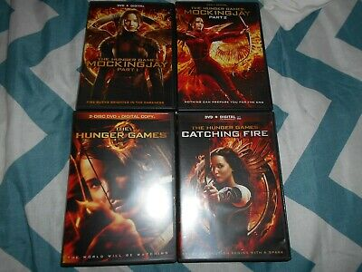 The Hunger Games Complete Four 4 Film DVD Collection (5 Disc)