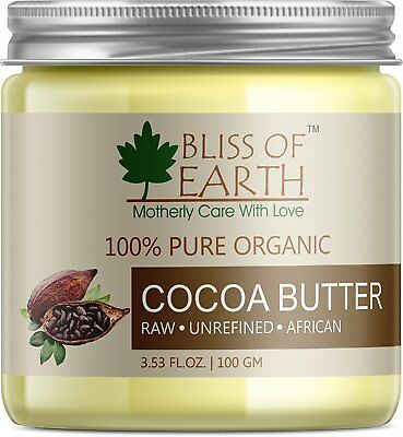 Pure Organic Cocoa Butter Raw,Unrefined,African 100 grams