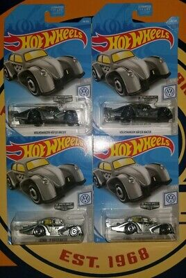 Hot Wheels -Zamac 2019- Volkswagen Kafer Racer - Lot of 4  *NON-MINT* SHIPS FAST