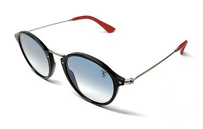 893d294078770 New Ray Ban Rb 2447-N-M F601 3F Black   Blue Gradient Authentic Sunglasses