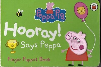 Peppa Pig - Hooray! Says Peppa - Finger Puppet Board Book - From Ladybird