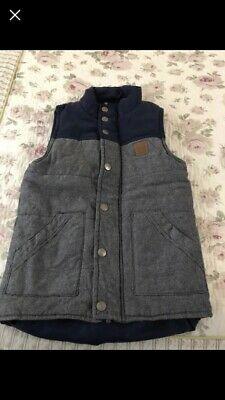 Boys Size 8 Thick Navy Blue Padded Vest - Immaculate Condition