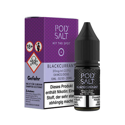 Pod Salt - Blackcurrant 20mg salt 10ml Liquid