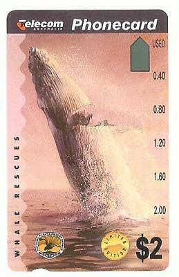 PRISTINE MINT $2 WHALE BREACHING   PHONECARD Pre 692  INVESTMENT QUALITY 13/15