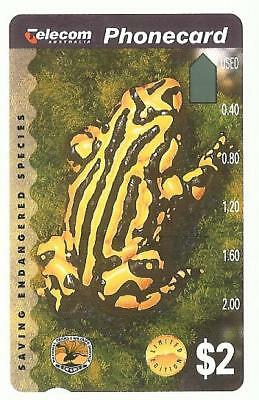 PRISTINE MINT $2 ENDANGERED SPECIES F PHONECARD Pre 686  INVESTMENT QUALITY 7/15
