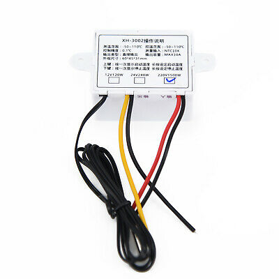 220/12/24V Digital LED Temperature Controller 10A Thermostat Control Switch Pro
