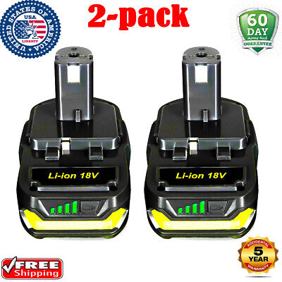 2PACK For Ryobi 18V Lithium-ion Battery ONE+ P112 P102 P103 P105 P107 P108 P109