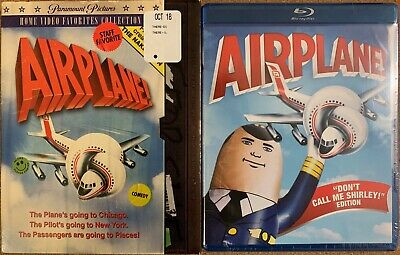 New Airplane Blu Ray Walmart Exclusive + Rare Oop Retro Vhs Slipcover Seeve