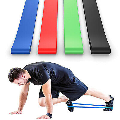 Elastic Workout Resistance Bands Loops Fitness Yoga Booty Exercise Band Set of 4