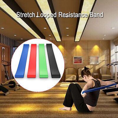 4PCS Resistance Bands Loops Latex Gym Strength Training Rubber - Fast Shipping