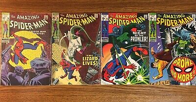 Amazing Spiderman lot 70, 76, 78, 79 GD to VG Prowler