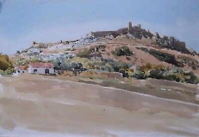 Arthur Victor Coverley Price Original Watercolour Painting Obidos Portugal