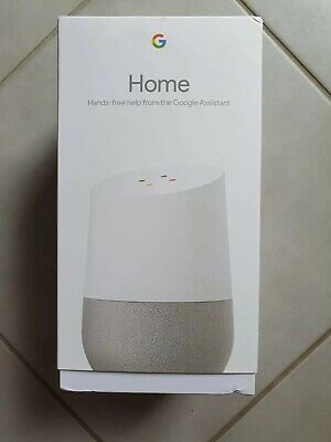Brand New Google Home Smart Assistant - White Slate - Sealed In Box Unopened