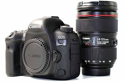 * Canon EOS 5D Mark IV DSLR Camera Body with EF 24-105mm f/4L II Lens Kit