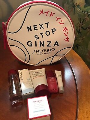 """2018 Shiseido Deluxe Skincare Gift 7 Piece """"Next Stop Ginza"""" Brand New"""