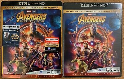 New Avengers Infinity War 4K Ultra Hd Blu Ray Walmart Exclusive Poster Slipcover