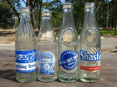 Lot Of Four Western Victorian Pyro Ceramic Label Bottles