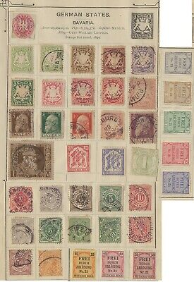 Small Collection Of Early German States Stamps