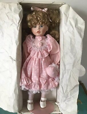 Collector Duck House Heirloom Porcelain Doll In Box