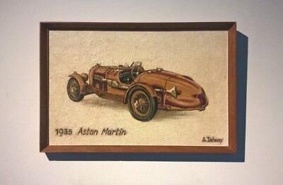 Arthur Delaney (Friend of Lowry) Signed Original Oil Painting 1935 Aston Martin