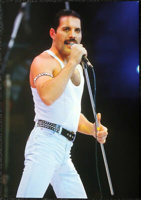 Queen Poster Page 1985 Live Aid Concert London Freddie Mercury R49