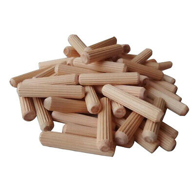 100x Wooden Dowel Rods Unfinished Hardwood Sticks for Crafts and Woodworking